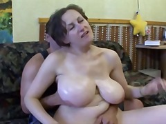 Huge Boob Euro Mom
