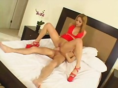 KAT IN RED PLATFORMS DP video