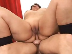 Fat girl love anal sex video