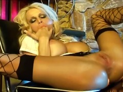 Thumbmail - Busty blonde milf does...