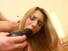 Ass fucked then made to eat creampie