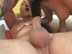 Hot foursome anal play... video
