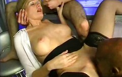 Mature wife fucked in bar