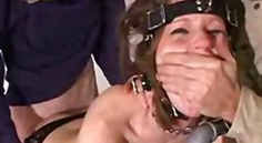 Slave bounded gagged and drilled in t...