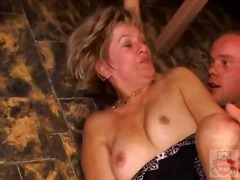 Xhamster - Mature mother and the Son's friend have a good time on kitchen.