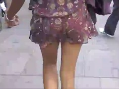 Asians walking no pant... video