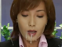 cumshots, asian, brunettes, bukkake,