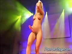 Porn on stage stripper...