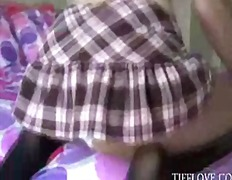 Cute teen Tiff Love takes off her sch...