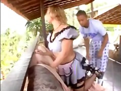 Hot maid gets banged good