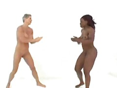 Nude Female Bodybuilders engaging in ...