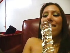 Jennifer Luv masterbates with a dildo!