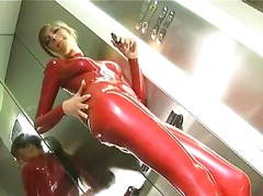 Red Latex Catsuit in E...