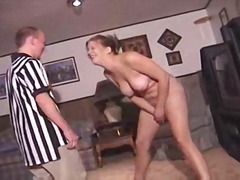 Babes getting kick in the pussy