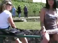 Public Flashing in a Park