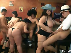 Bar orgy with fat whores - Xhamster