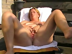 Hot chubby mature with...