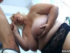 Thumb: Huge lady strips and f...