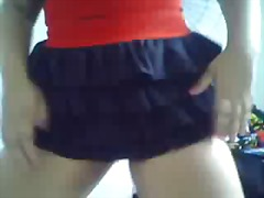Chubby teen dancing 2 video