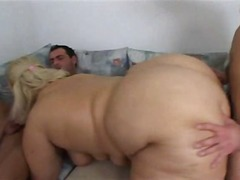 Blonde SSBBW drilled b...