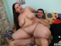 Cock riding BBW after pussy fingering