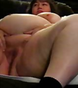 bbw, fingering, big boobs,