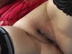 Chubby Mature in Stockings Fingers an...