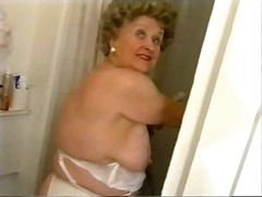 Chubby Old Granny in Stockings Messy ...