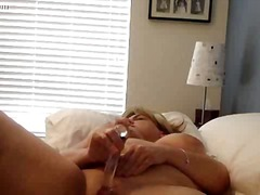 Busty Mature dildo fun - 10:17
