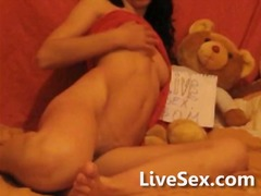 teen, skinny, webcam, masturbation,
