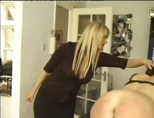 Domestic staff caning