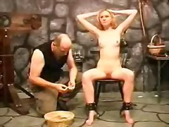 Slave girl punished by... video