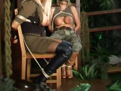 Xhamster Movie:Lesbian dominates 2 tied babes...