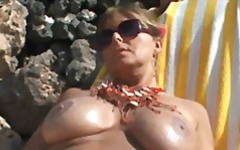 beach, big boobs
