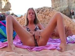Thumb: Beach masturbation