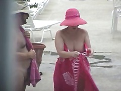 Thumb: Nude Lady showering ou...