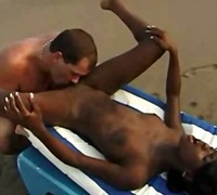 beach, interracial