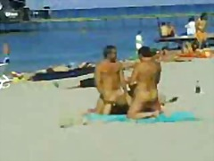 beach, group sex