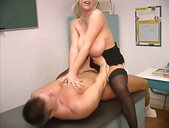 Thumb: Mature blond with enor...