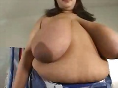 Huge Black Tits Areolas #2