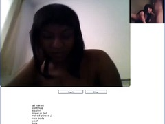 Chatroulette #57 Horny black girl naked.avi