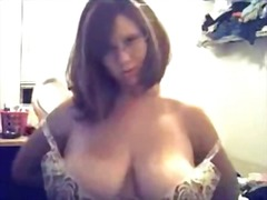 Super busty webcam nerd