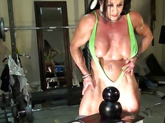 Xhamster Movie:Sexy Female Bodybuilder Cam Tease