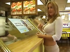 Xhamster Movie:Flashing in a snack and at gas...