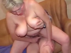 mature, handjob, big boobs, granny,