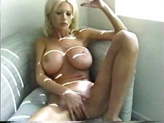 blonde, milf, masturbation