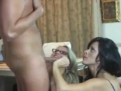 threesome, group, blowjob, mature,