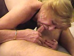 stocking, mature, blowjob, granny,