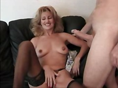 mature, granny, blowjob, facial,