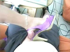 mature, cumshots, german, matures, stockings, stocking, foot, foot fetish, cumshot